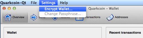 Encrypt Wallet